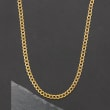 Italian 18kt Yellow Gold Curb-Link Necklace