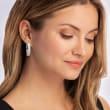 4.00 ct. t.w. Diamond Double-Row Hoop Earrings in 14kt White Gold