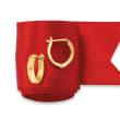 14kt Yellow Gold Huggie Hoop Earrings