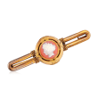 C. 1920 Vintage Pink Agate Cameo Pin in 18kt Yellow Gold