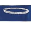 .75 ct. t.w. Diamond Bangle Bracelet in Sterling Silver