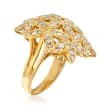 C. 1980 Vintage 1.70 ct. t.w. Flower Bouquet Ring in 18kt Yellow Gold