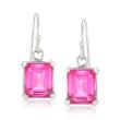 7.00 ct. t.w. Pink Topaz Drop Earrings in Sterling Silver