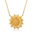 14kt Yellow Gold Sunflower Necklace