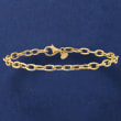 Italian 4mm 18kt Yellow Gold Oval Cable-Link Bracelet