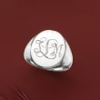 Sterling Silver Personalized Signet Ring