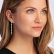 1.00 ct. t.w. Diamond Linear Drop Earrings in 18kt Gold Over Sterling