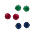12.00 ct. t.w. Multi-Stone Jewelry Set: Three Pairs of Stud Earrings in Sterling Silver