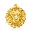 Italian 14kt Yellow Gold Lion Slide Pendant