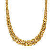 18kt Yellow Gold Graduated Byzantine Necklace