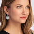 Personalized Monogram Sterling Silver Scalloped Drop Earrings