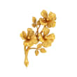 C. 1970 Vintage Tiffany Jewelry Flower Pin in 14kt Yellow Gold