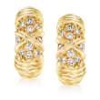 C. 1980 Vintage Van Cleef .30 ct. t.w. Diamond Clip Earrings in 18kt Yellow Gold