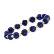90.00 ct. t.w. Sapphire Bead Stretch Bracelet with 14kt Yellow Gold