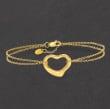 14kt Yellow Gold Heart Bracelet