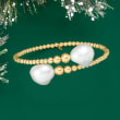 13-14mm Cultured Baroque Pearl Beaded Cuff Bracelet