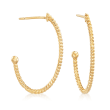 8-8.5mm Cultured Pearl Drop Earrings in 18kt Gold Over Sterling
