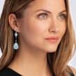 64.00 ct. t.w. Aquamarine Drop Earrings in Sterling Silver