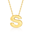 14kt Yellow Gold Mini Initial Necklace