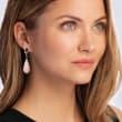 Multi-Gemstone and .66 ct. t.w. Diamond Drop Earrings in 14kt Yellow Gold