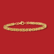 14kt Yellow Gold Round Byzantine Bracelet