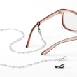 3-In-1 Italian Sterling Silver Paper Clip Link Necklace, Mask Holder and Eyeglass Chain