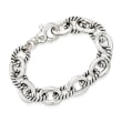 Zina Sterling Silver Twisted Combination Link Bracelet
