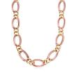 C. 1980 Vintage 14kt Two-Tone Gold Link Necklace