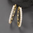 4.00 ct. t.w.  Diamond Hoop Earrings in 14kt Yellow Gold