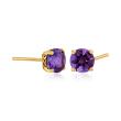 1.50 ct. t.w. Amethyst Stud Earrings in 14kt Yellow Gold