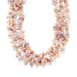 Cultured Pearl and Biwa Pearl Multi-Strand Necklace in 14kt Yellow Gold