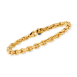 Italian .50 ct. t.w. Sapphire Link Bracelet in 14kt Yellow Gold
