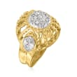 C. 1960 Vintage .40 ct. t.w. Diamond Ring in 18kt Two-Tone Gold