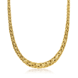 C. 1990 Vintage Tiffany Jewelry 18kt Yellow Gold Weave Necklace