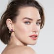 .20 ct. t.w. Pave Diamond Multi-Row Single Ear Cuff in 14kt Yellow Gold