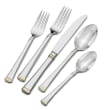 """Mikasa """"Harmony"""" 20-pc. Service for 4 18/10 Stainless Steel Flatware Set with Gold-Plated Accents"""
