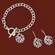 Small Sterling Silver Monogram Toggle Bracelet