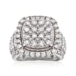 4.00 ct. t.w. Diamond Cluster Ring in 14kt White Gold
