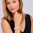 C. 1980 Vintage 5.40 ct. t.w. Diamond Bangle Bracelet in 14kt White Gold