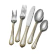 "Mikasa ""Regent Bead"" 65-pc. Service for 12 18/10 Stainless Steel Flatware Set with Gold-Plated Accents"