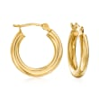 2.5mm 14kt Yellow Gold Hoop Earrings