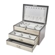 White and Gray Wooden Jewelry Box