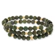 Jade Bead Wrap Bracelet with 14kt Yellow Gold
