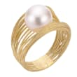 10-10.5mm Cultured Pearl Multi-Strand Ring in 14kt Yellow Gold