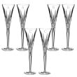 """Waterford Crystal """"Lismore Diamond"""" Set of 2 Block Initial Toasting Flutes"""