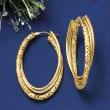 Italian 14kt Yellow Gold Triple-Hoop Earrings
