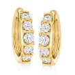 2.00 ct. t.w. Diamond Hoop Earrings in 14kt Yellow Gold