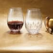 "Waterford Crystal ""Giftology"" Set of Two Lismore Nouveau Red Wine Stemless Crystal Glasses"