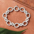 Sterling Silver Twisted Oval-Link Bracelet