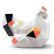 "Lladro ""Origami"" Hen Porcelain Figurine"